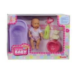Мини пупс New Born с ванночкой