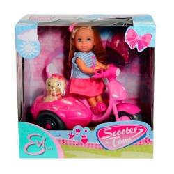 Кукла Эви на скутере с собакой