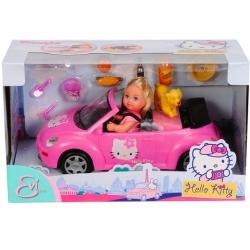 Эви Hello Kitty в кабриолете